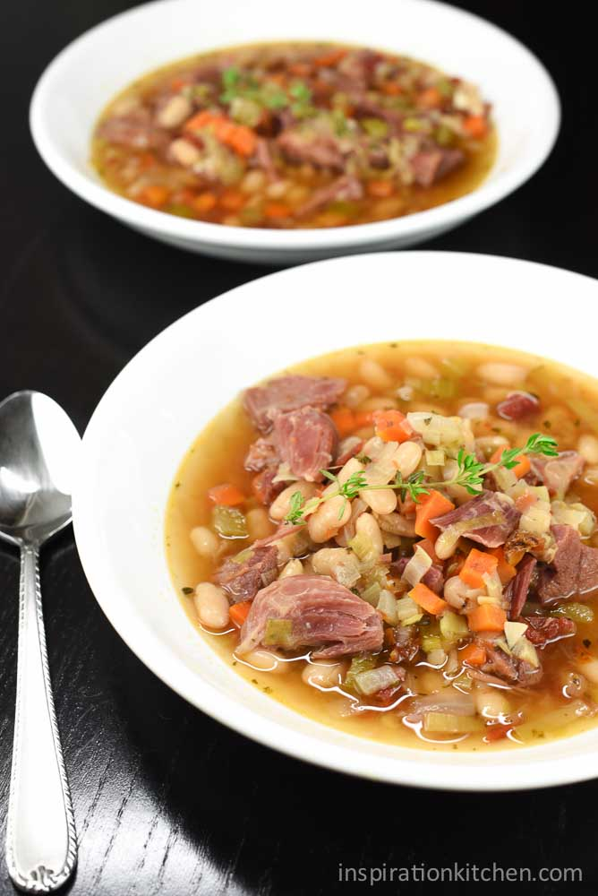 White Beans and Ham Soup | Inspiration Kitchen