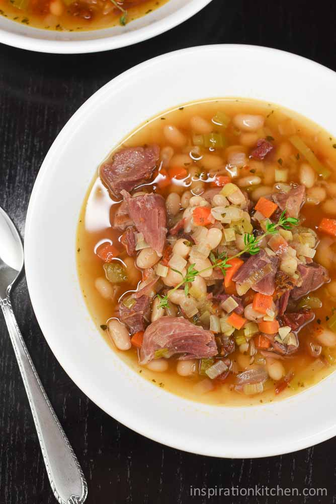 White Beans & Ham Soup | Inspiration Kitchen
