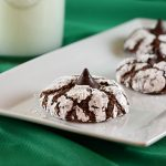 Chocolate Crinkle Cookies with Mint Truffle Kisses
