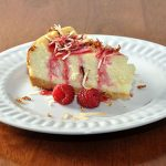 White Chocolate Coconut Cheesecake & Raspberry Whipped Cream Vodka Drizzle