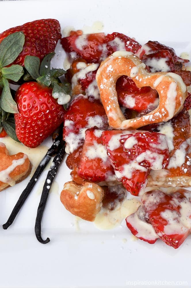 Strawberry Grand Marnier Tarts with Vanilla Bean Crème Anglaise - inspirationkitchen.com