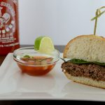 Thai Basil Beef Burgers with Spicy Sweet Chili Dipping Sauce