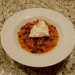 Halibut with Black Beans in Tomato-Rosemary Broth