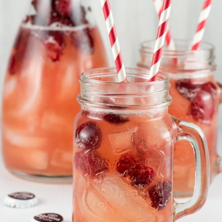 Raspberry Beer Cocktail - inspirationkitchen.com