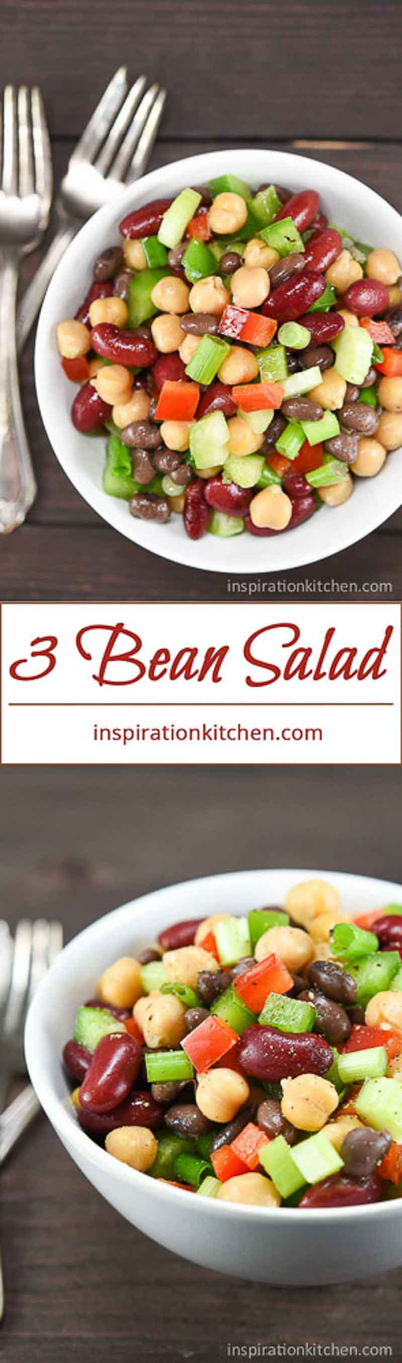 3 Bean Salad Collage | Inspiration Kitchen
