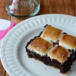 Chocolate Stout & Marshmallow S'mores Bars