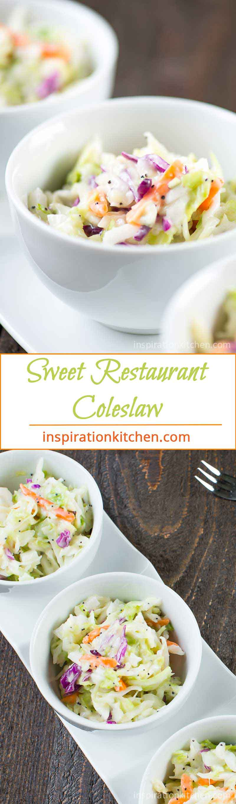 Sweet Restaurant Coleslaw Collage | Inspiration Kitchen