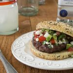 Guadalajara Burger with Tequila-Spiked Salsa
