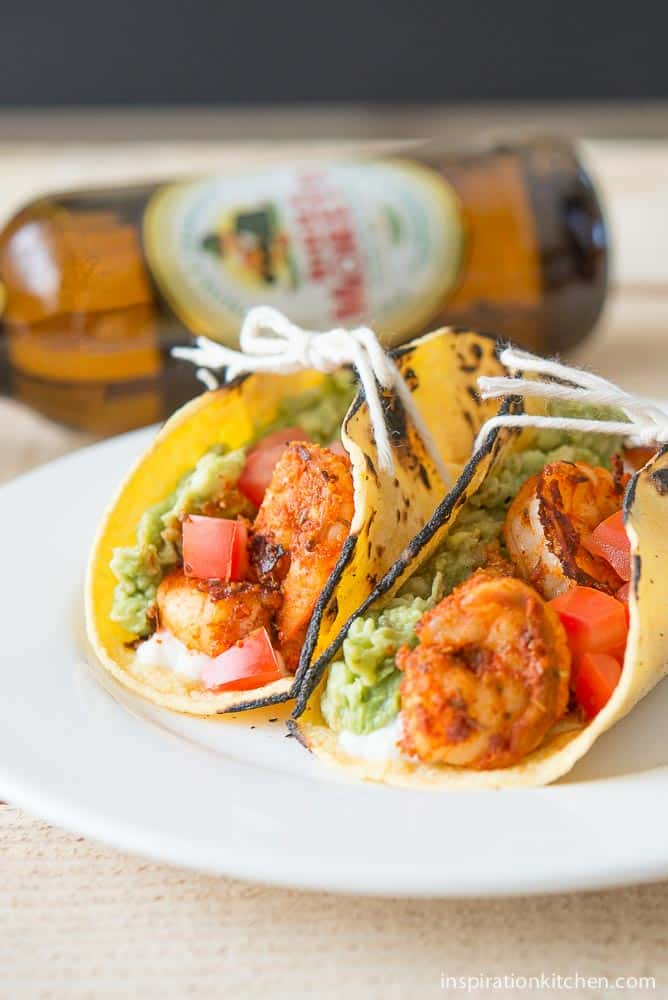 Blackened Shrimp Tacos with Queso Fresco - inspirationkitchen.com