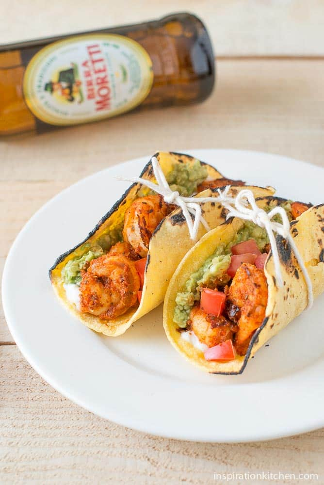 Blackened Shrimp Tacos Queso Fresco | Inspiration Kitchen