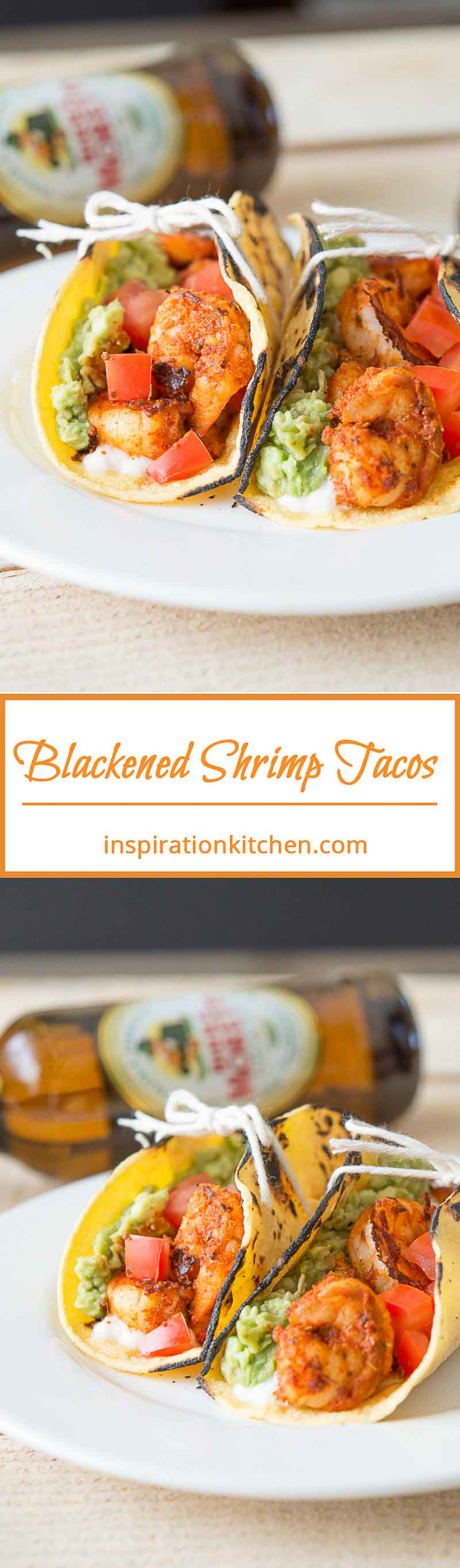 Blackened Shrimp Tacos Queso Fresco Collage | Inspiration Kitchen