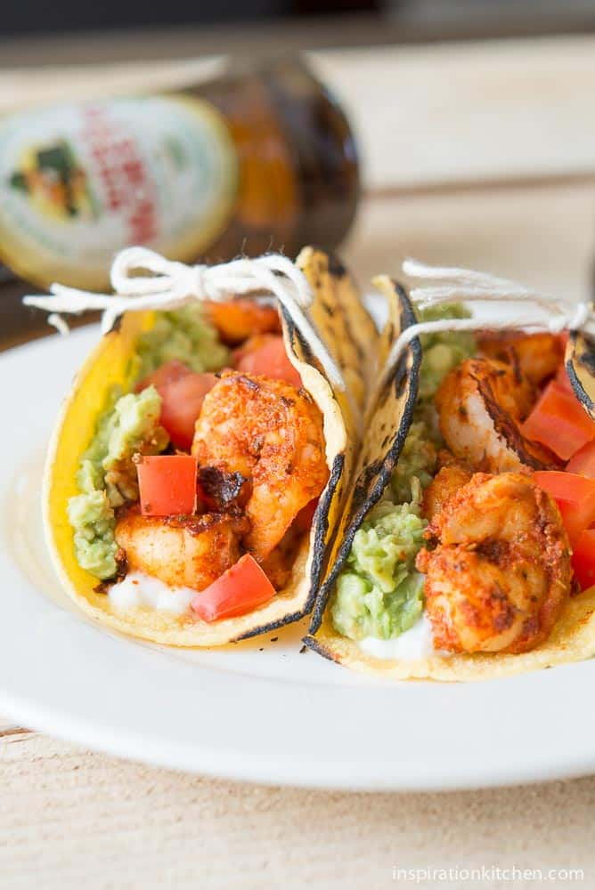 Blackened Shrimp Tacos with Queso Fresco | Inspiration Kitchen