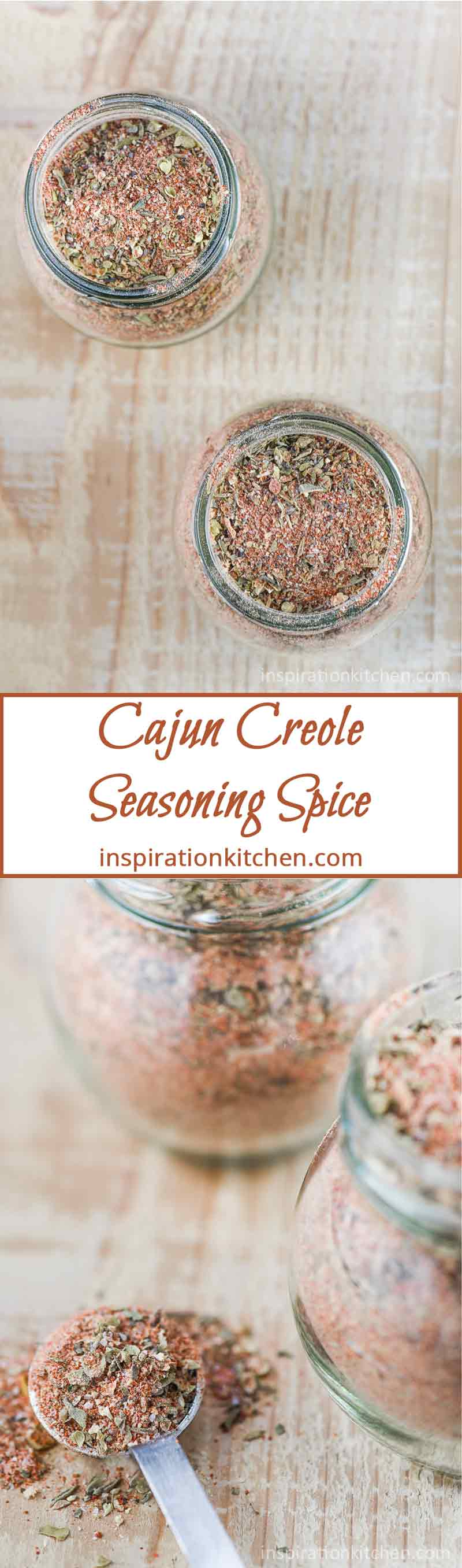 Cajun Creole Seasoning Spice Collage | Inspiration Kitchen