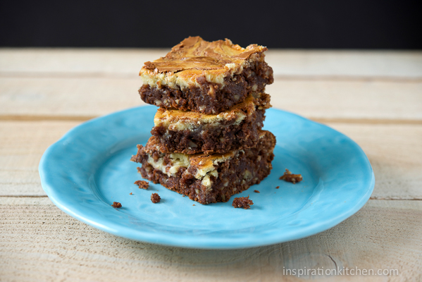 Chocolate Chip Cream Cheese Brownies | Inspiration Kitchen