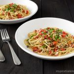 Spaghetti with Spicy Red Pepper & Garlic Clam Sauce