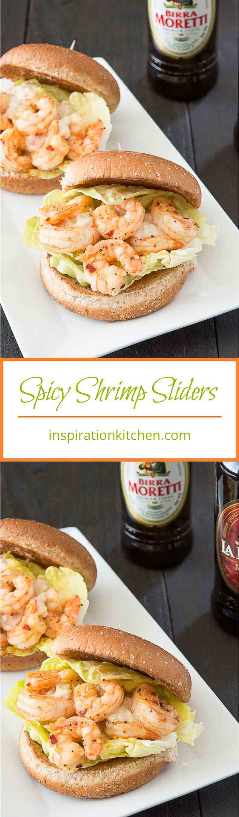 Spicy Shrimp Sliders with Celery Mayonnaise - inspirationkitchen.com