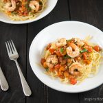 Linguine Pasta with Shrimp & Tomatoes