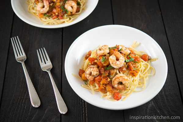 Linguine Shrimp Tomatoes | Inspiration Kitchen