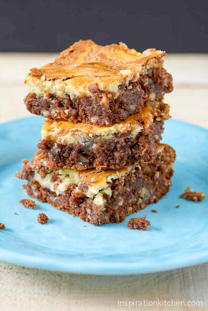Chocolate Chip Cheesecake Brownies | Inspiration Kitchen
