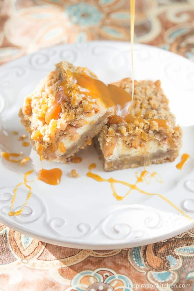 Caramel Apple Cheesecake Bars | Inspiration Kitchen