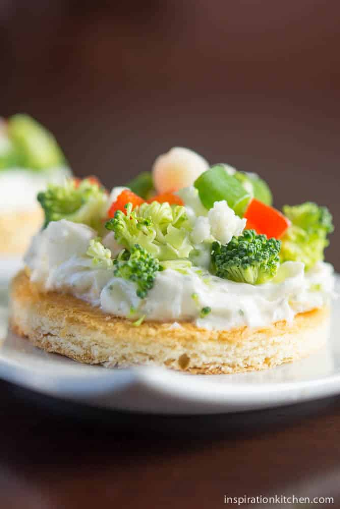 Cream Cheese & Vegetable Pizza Appetizer | Inspiration Kitchen