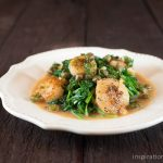 Scallop Picatta with Sauteed Spinach | Inspiration Kitchen