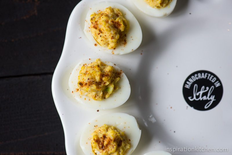 Horseradish Deviled Eggs Smoked Paprika | Inspiration Kitchen-5897