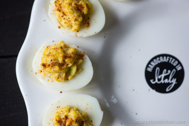 Horseradish Deviled Eggs Smoked Paprika | Inspiration Kitchen-5904
