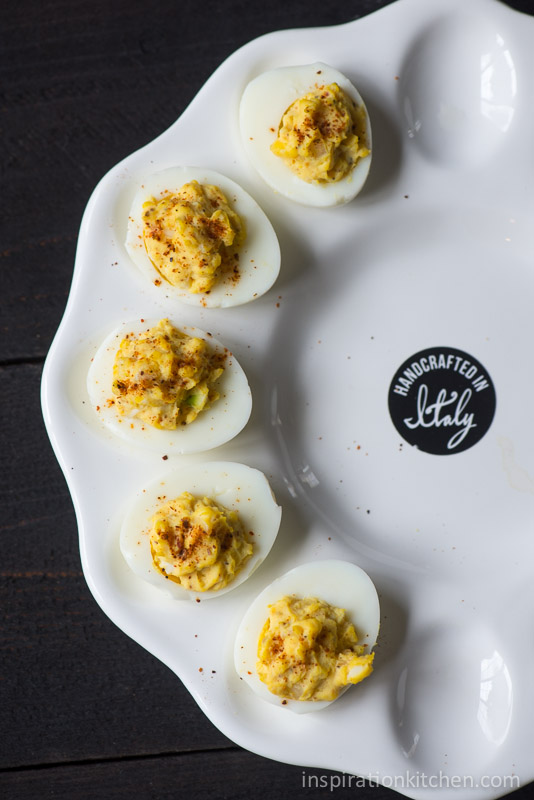 Horseradish Deviled Eggs Smoked Paprika | Inspiration Kitchen-5927