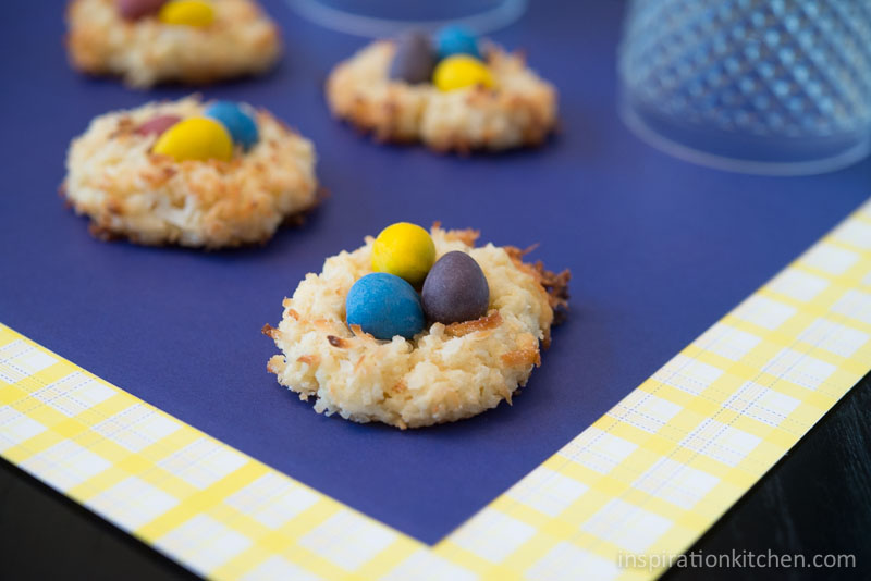 Macaroon Bird's Nest Cookies - inspirationkitchen.com