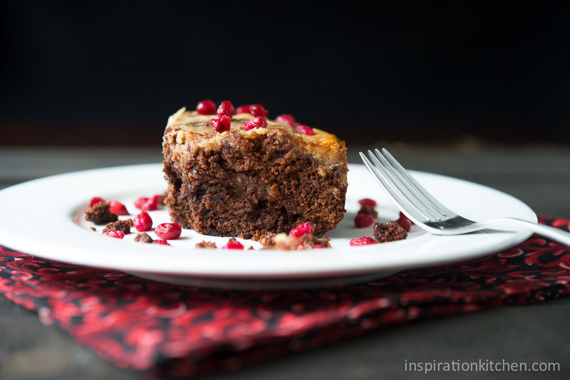Pomegranate Cream Cheese Brownies 800x600 | Inspiration Kitchen-138