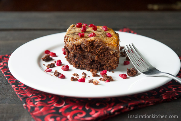 Pomegranate Cream Cheese Brownies | Inspiration Kitchen