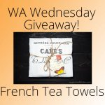 Giveaway! Set of 3 – French Tea Towels