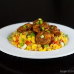 Three Chile Dusted Shrimp with Corn Relish