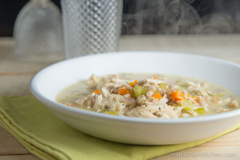 Creamy Chicken Soup with Farro | Inspiration Kitchen