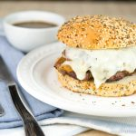 Blackened Green Chile Stuffed Burger Dips