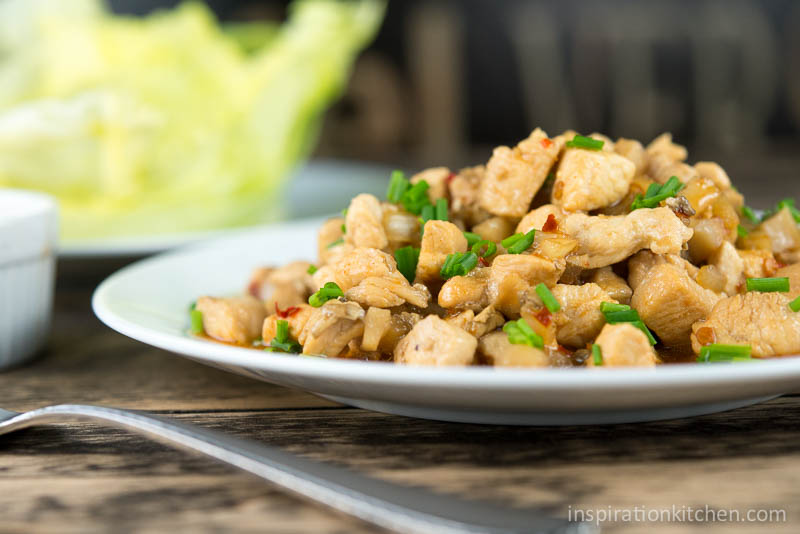 PF Changs Spicy Chicken Lettuce Wraps | Inspiration Kitchen