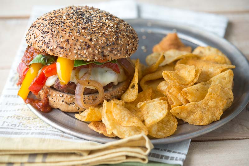 Sausage and Pepper Burger 02 | Inspiration Kitchen