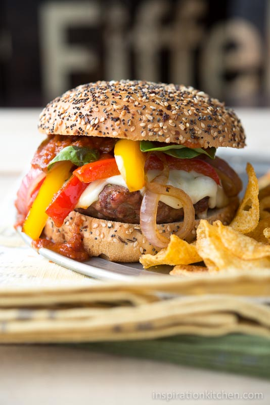 Sausage and Pepper Burgers 03 | Inspiration Kitchen