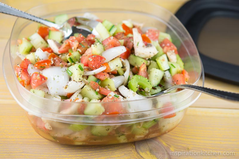 Tomato Cucumber Onion Salad | Inspiration Kitchen