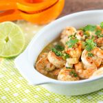 Shrimp Scampi with Lime, Honey & Beer