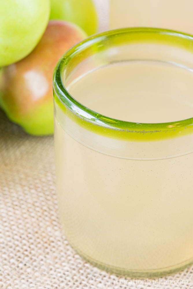 Easy No-Waste {Guilt Free} Fresh Apple Juice | Inspiration Kitchen