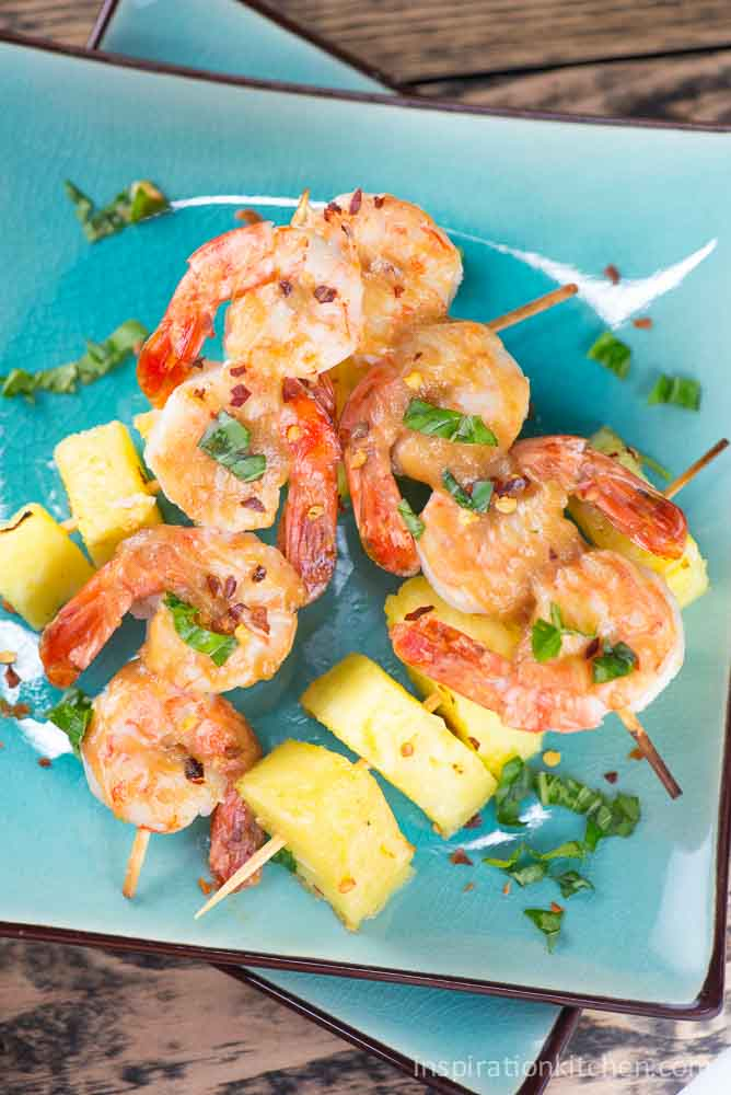Shrimp and Pineapple with Peanut Sauce | Inspiration Kitchen