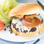 Peppercorn Blue Cheese Bacon Burger