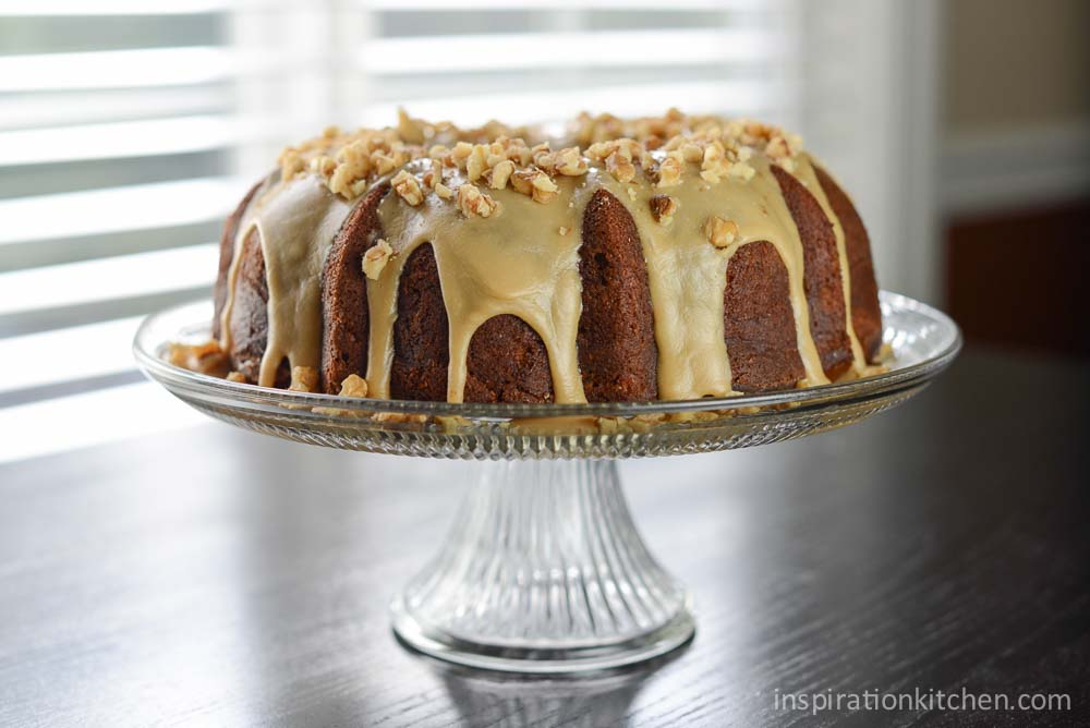 Apple Cream Cheese Bundt Cake Praline Frosting | Inspiration Kitchen