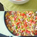One Skillet Cheeseburger Pasta Collage | Inspiration Kitchen