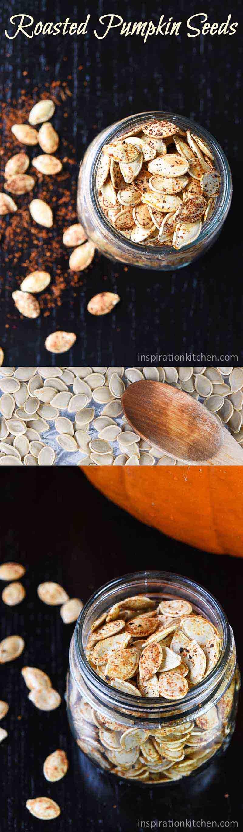 Roasted Pumpkin Seeds Collage | Inspiration Kitchen