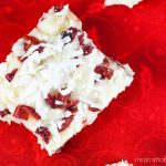 Coconut White Chocolate Cranberry Fudge