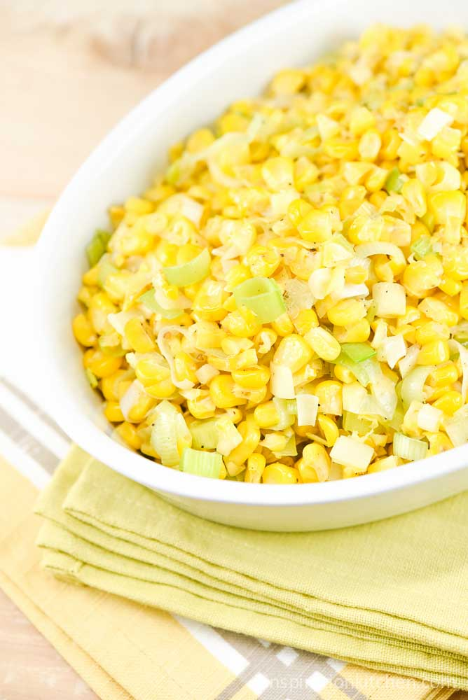 Corn & Leek Saute | Inspiration Kitchen