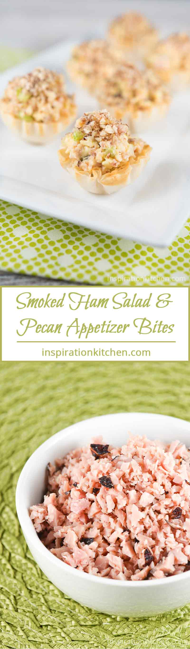 Smoked Ham Salad Pecan Appetizer Bites | Inspiration Kitchen
